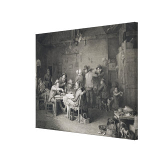 The Village Politicians, engraved by Abraham Raimb Canvas Print