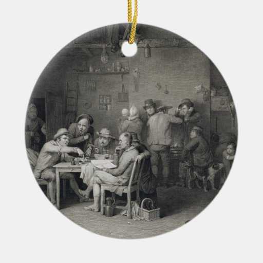 The Village Politicians, engraved by Abraham Raimb Ornament