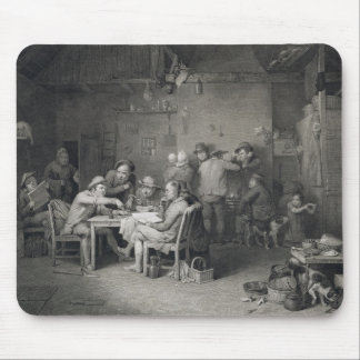 The Village Politicians, engraved by Abraham Raimb Mouse Pad