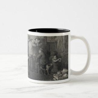 The Village Politicians, engraved by Abraham Raimb Two-Tone Coffee Mug