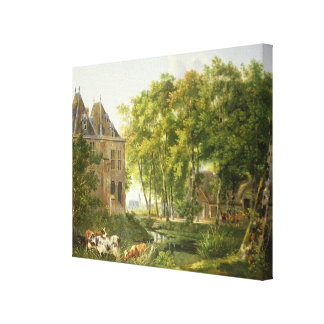 The Village Pond Canvas Print