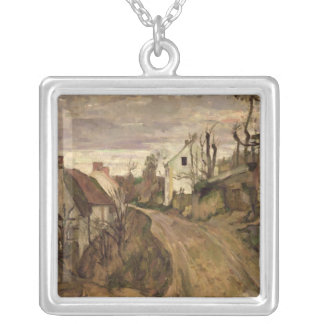 The Village Road, Auvers, c.1872-73 Silver Plated Necklace