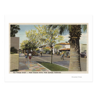 The Village Street Palm Canyon Drive Post Card