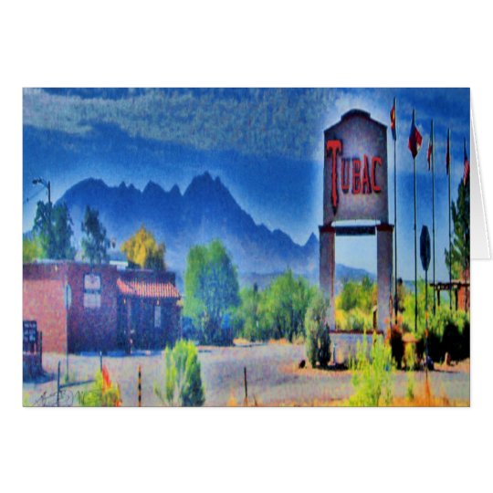 The Village, Tubac, Arizona greeting card