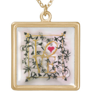 The Vines of Love Gold Plated Necklace