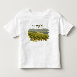 The vineyard and a valley with a forest - toddler T-Shirt
