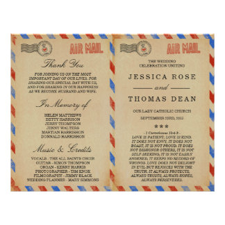 The Vintage Airmail Wedding Collection 21.5 Cm X 28 Cm Flyer