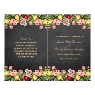 The Vintage Floral Chalkboard Wedding Collection 21.5 Cm X 28 Cm Flyer