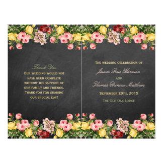 The Vintage Floral Chalkboard Wedding Collection Flyer Design