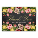 The Vintage Floral Chalkboard Wedding Collection Note Card