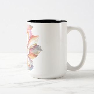 The Vintage Flower of Serenity -Light Edition Two-Tone Coffee Mug