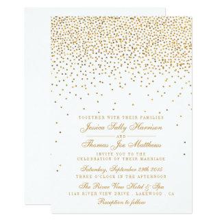 The Vintage Glam Gold Confetti Wedding Collection 13 Cm X 18 Cm Invitation Card