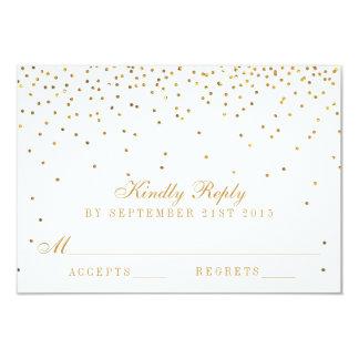 The Vintage Glam Gold Confetti Wedding Collection 9 Cm X 13 Cm Invitation Card