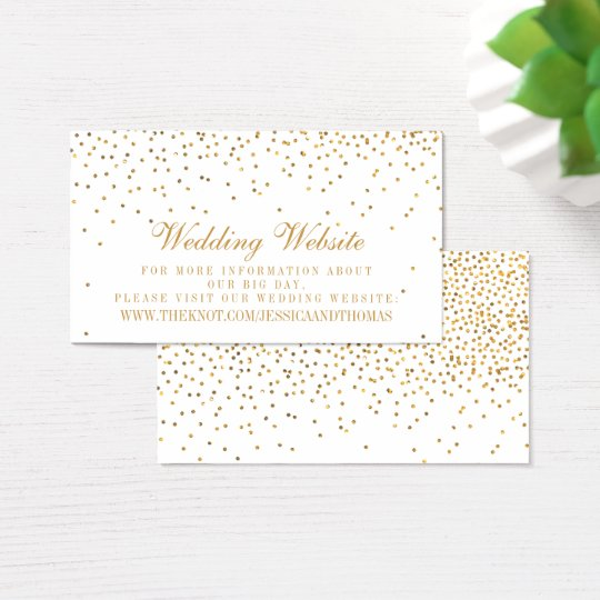 The Vintage Glam Gold Confetti Wedding Collection Business
