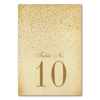 The Vintage Glam Gold Confetti Wedding Collection Card