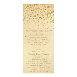 The Vintage Glam Gold Confetti Wedding Collection Custom Rack Cards