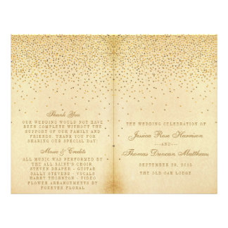 The Vintage Glam Gold Confetti Wedding Collection Flyer