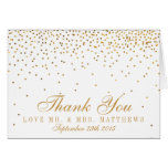 The Vintage Glam Gold Confetti Wedding Collection Note Card