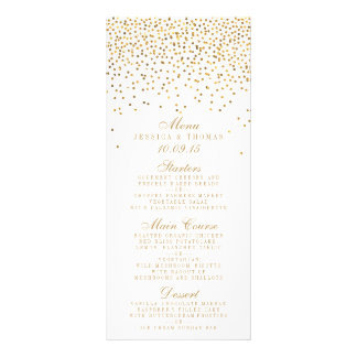 The Vintage Glam Gold Confetti Wedding Collection Rack Cards