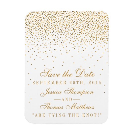 The Vintage Glam Gold Confetti Wedding Collection Rectangular