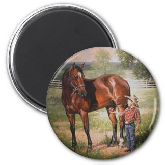 The Vintage Horse 6 Cm Round Magnet