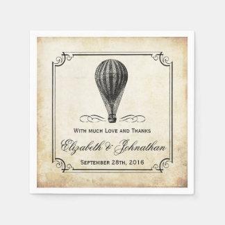 The Vintage Hot Air Balloon Wedding Collection Disposable Serviette