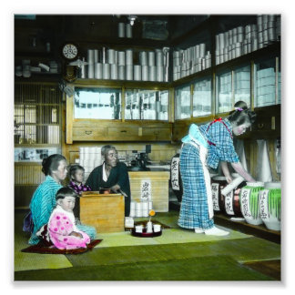 The Vintage Japanese Tea Merchant Old Japan Photo Art
