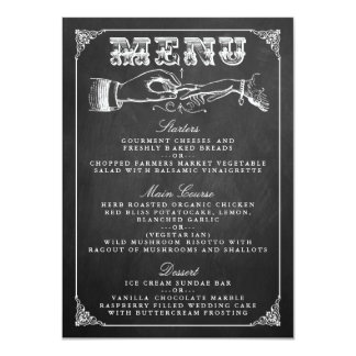 The Vintage Marriage Chalkboard Wedding Collection 11 Cm X 16 Cm Invitation Card