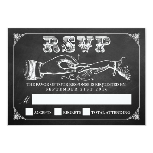 The Vintage Marriage Chalkboard Wedding Collection Card
