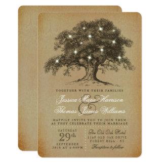 The Vintage Old Oak Tree Wedding Collection 13 Cm X 18 Cm Invitation Card
