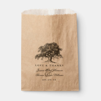 The Vintage Old Oak Tree Wedding Collection Favour Bags