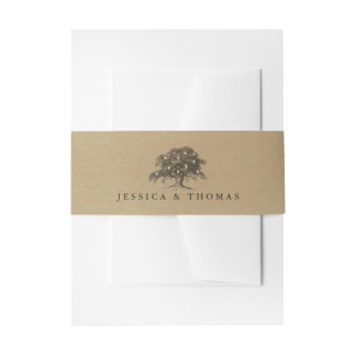 The Vintage Old Oak Tree Wedding Collection Invitation Belly Band