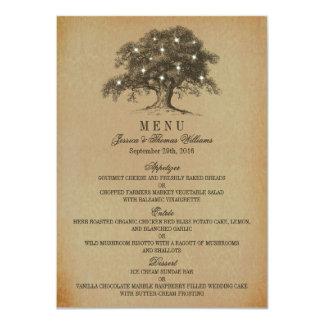 The Vintage Old Oak Tree Wedding Collection - Menu Card