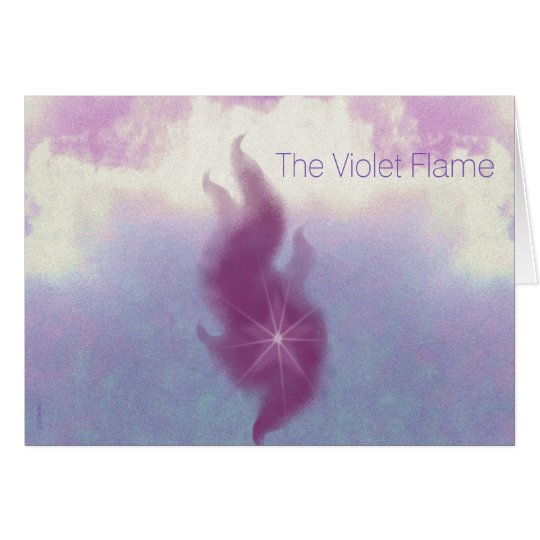 The Violet Flame Card