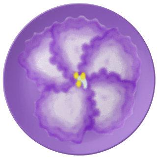 The Violet Large Porcelain Plate