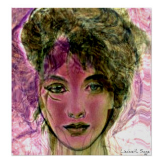"""The Violet Warrior"" Portrait Posters"