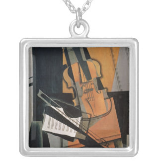 The Violin, 1916 Silver Plated Necklace