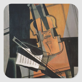 The Violin, 1916 Square Sticker