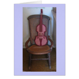The Violin And The Rocking Chair Greeting Card