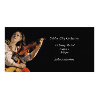 The Violin Player Photo Greeting Card