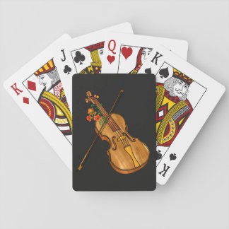 The Violin Plays with You Playing Cards