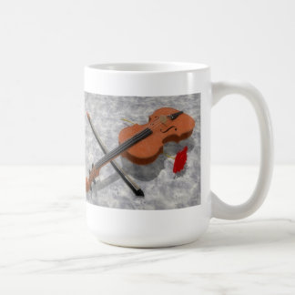 The Violin & The Rose: Custom Coffee Mug