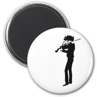 The Violinist 6 Cm Round Magnet