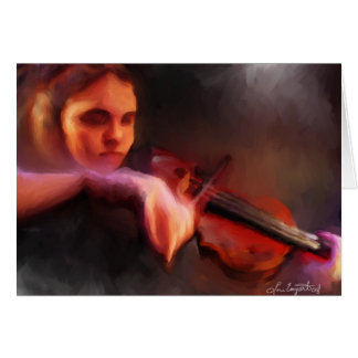 The Violist Greeting Card