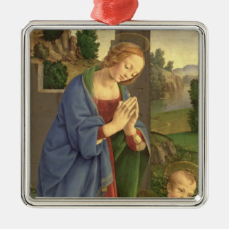 The Virgin Adoring the Child, 1490-1500 Christmas Ornament