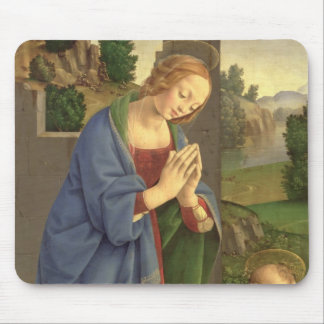 The Virgin Adoring the Child, 1490-1500 Mouse Mat