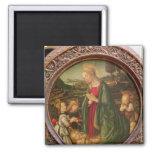 The Virgin Adoring the Christ Child Fridge Magnet