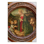 The Virgin Adoring the Christ Child Greeting Card