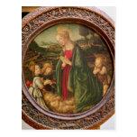 The Virgin Adoring the Christ Child Postcard