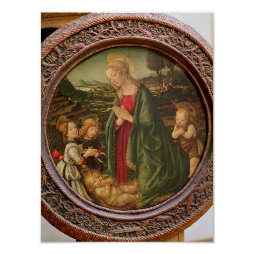 The Virgin Adoring the Christ Child Poster